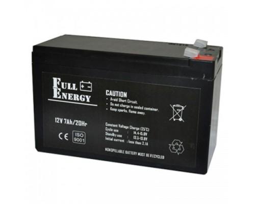 Аккумулятор АКБ-12 В. 7 А / Ч  Full Energy